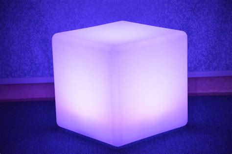 light up cubes lighting cube chair modern footstools and ottomans