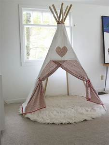 Tipi Chambre Fille : diy teepee red house west ~ Teatrodelosmanantiales.com Idées de Décoration