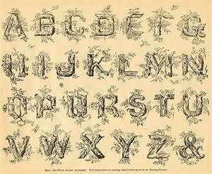 free antique clip art spencerian alphabet the graphics With antique alphabet letters