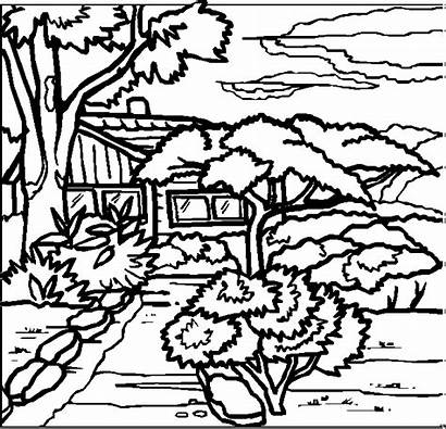 Coloring Pages Landscapes Landscape Animated Words Gifs