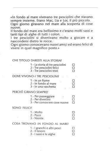 comprensione testo classe terza elementare dettato e comprensione italiano schede di lettura