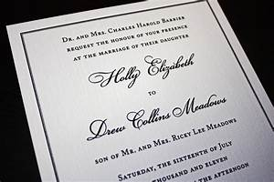 classic black border on cream linen wedding invitations With traditional wedding invitations font