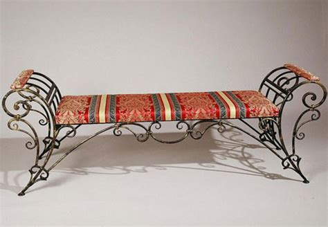 wrought iron furniture chairs  benches modern