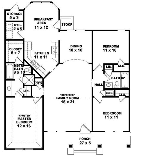 3 bed 2 bath floor plans 654069 one 3 bedroom 2 bath ranch style house