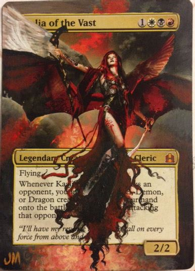 kaalia of the vast commander deck kaalia of the vast altered card by amazingalters on etsy