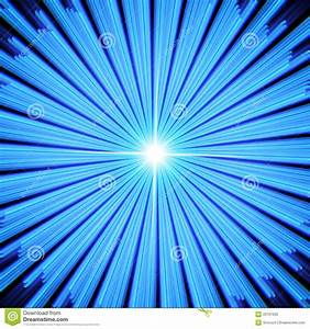 Blue Light Rays With Star. Stock Photo - Image: 33197630