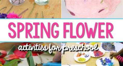 spring lessons for preschoolers flower activities for preschoolers pre k pages 553