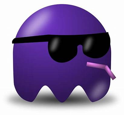 Clipart Cool Pacman Avatar Purple Shades Character