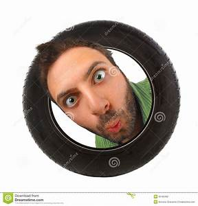Wow Expression In The Car Tire Stock Photo - Image of cute ...