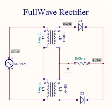 full wave rectifier   diodes