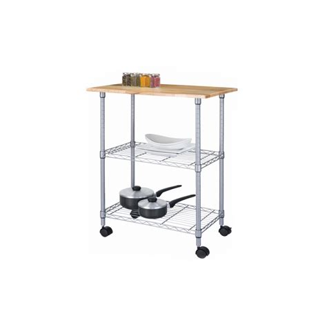 kmart kitchen island cart essential home 3 tier portable island shop your way 6665