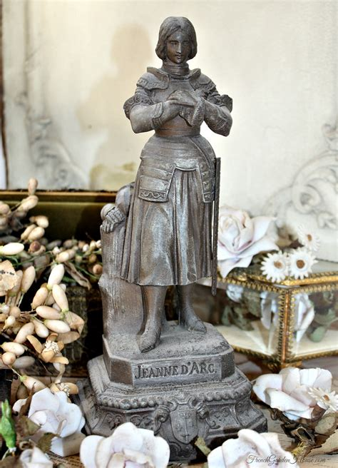 kitchen cabinets furniture antique religious statue joan of arc