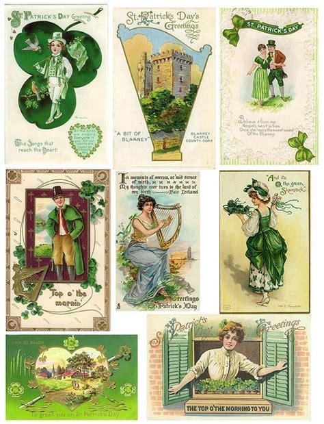 st patricks day vintage printables  printables