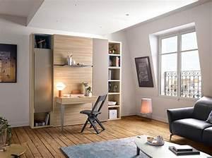 Lit Dans Armoire : lit escamotable armoire des meubles gautier blog d co mlc ~ Premium-room.com Idées de Décoration