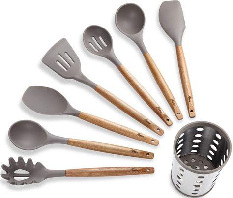silicone cooking kitchen utensil miusco utensils tools heat resistant