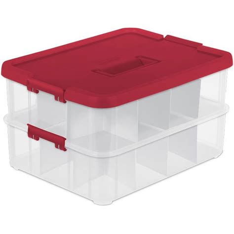 sterilite ornament storage in ornament storage boxes