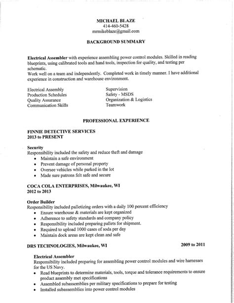 Employment History Order On Resume by Order Professional Application Letter
