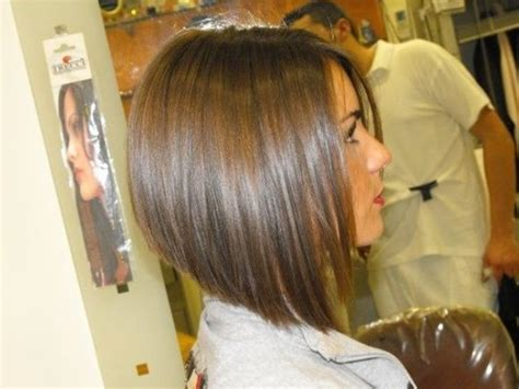 Side View Of Graduated Bob Hairstyle