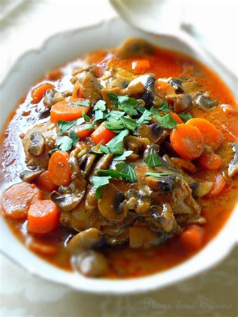 cuisine carotte poulet crémeux aux chignons et carottes une plume