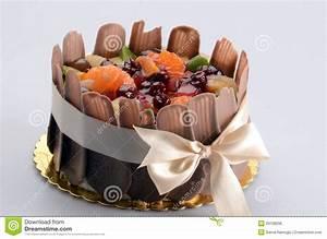 Fresh Fruit And Chocolate Cake Stock Photo - Image: 29158296