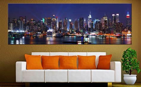 york city skyline canvas print wall home art prints