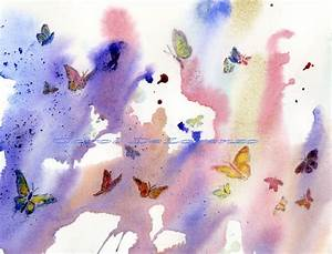 Watercolor Painting 8x10 Butterfly Art Butterfly Painting