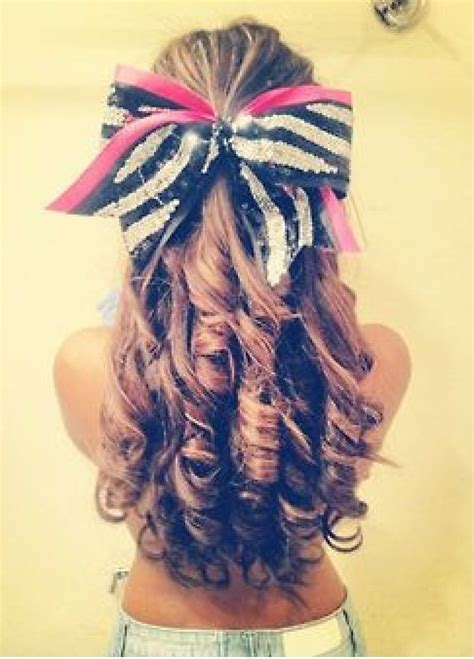 pink and zebra cheer bow i also love this look because of