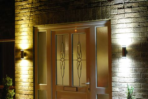 modern stainless steel double outdoor wall light up and down led or cfl ls ebay