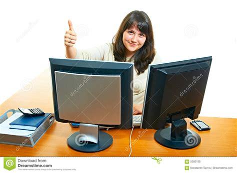 femme dans le bureau photo libre de droits image 5392155