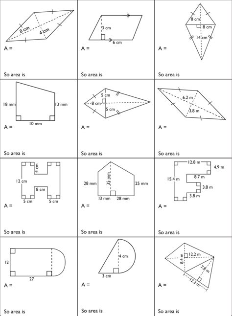 perimeter and area of composite figures worksheet answers