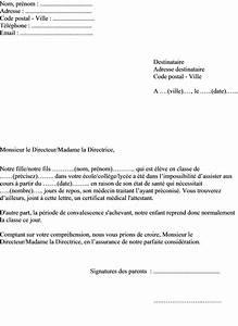 Lettre De Déclaration De Sinistre Causé Par Un Tiers : exemple de mot d 39 excuse pour une absence aux cours ~ Gottalentnigeria.com Avis de Voitures