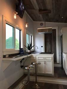 Micro Recessed Lights Stony Ledge 30ft Tiny House On Wheels With A Downstairs