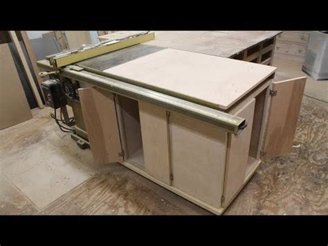 cabinet table saw used make a table saw storage cabinet jon peters home