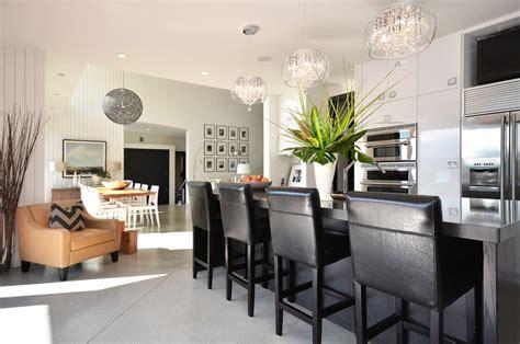 drum shade chandelier kitchen modern with