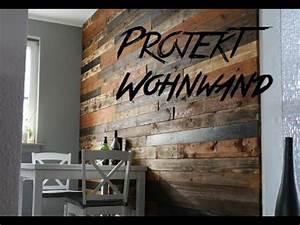 Wohnwand Aus Paletten : diy design wohnwand aus europaletten pallet wood wall palettenholz youtube ~ Frokenaadalensverden.com Haus und Dekorationen