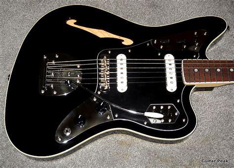 Fender Thinline Jaguar by Fender Special Edition Jaguar Thinline Black Reverb