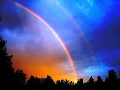 Rainbow Sky Colorful Popular Landscape