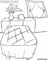 Furniture Coloring Furniture5 sketch template