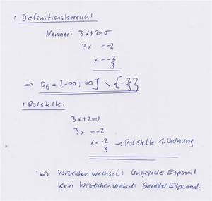 Definitionsbereich Berechnen : vorzeichenwechsel definitionsbereich bestimmen ~ Themetempest.com Abrechnung