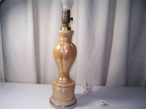 aladdin alacite electric l lusterware table l 1950s