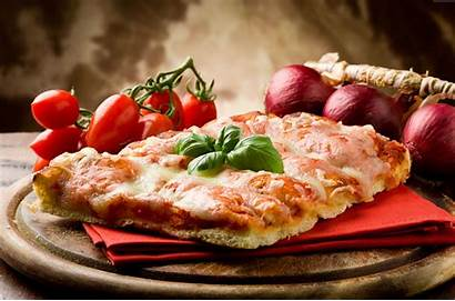 4k Pizza Cheese Tomato Onion Basil Wallpapers