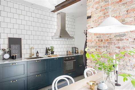 revestimientos de cocina ladrillo visto cemento pulido