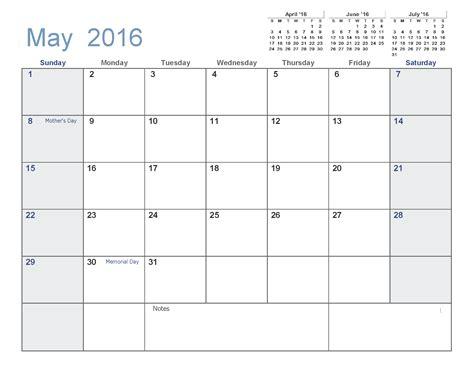 blank calendar template pdf may 2016 printable calendar pdf printable calendar templates