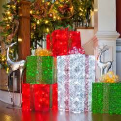 diy christmas decorations 4 lighted gift boxes