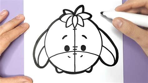draw eeyore happy drawings disney tsum tsum