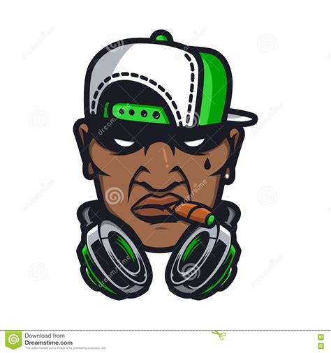 urban hiphop character stock vector image