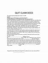 Photos of Sample Quit Claim Deed Wayne County Michigan