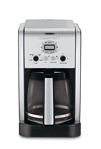 If you've decided on cuisinart but are having trouble picking the model that's right for you, we can help. Cuisinart DCC-2600 Brew Central 14-Cup Programmable Coffeemaker with Glass Carafe (Certified ...