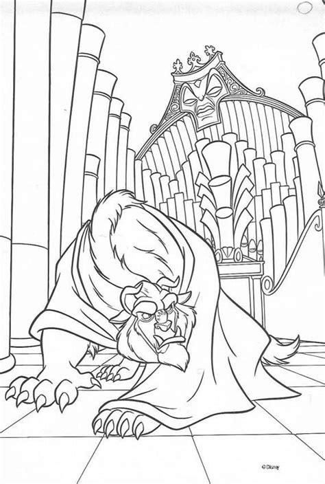 dibujos del cuento infantil la bella  la bestia  pintar colorear imagenes