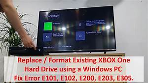 Replace Format Existing XBOX One Hard Drive Using
